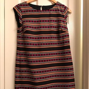 Banana Republic Shift Dress -Stripes and Diamonds